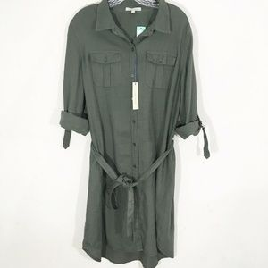 STITCH FIX 41 Hawthorn Hellen Cotton Shirt Dress